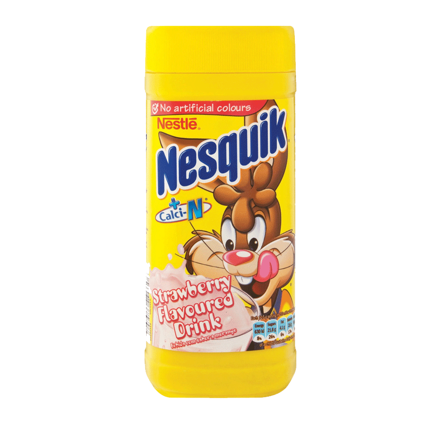 Nestle Nesquik Strawberry Bottle 250 G | Flavoured Milk